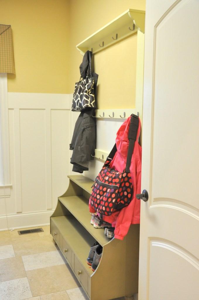 Laundry Room Coat Organization