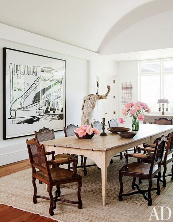 Large Scale Artwork Dining Room