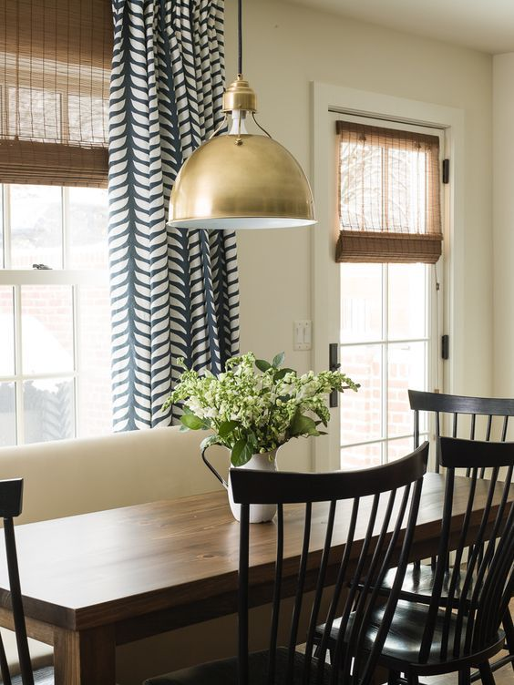 Patterned Dining Room Drapes