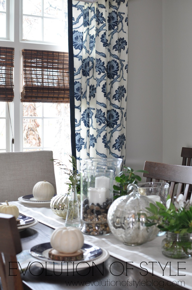 Navy Dining Room Decor