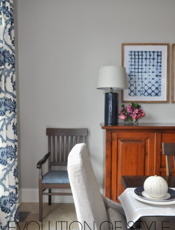 One Room Challenge Navy Dining Room