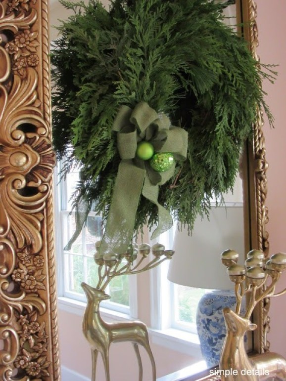 Eclectic Home Tour - Lynch Farms Wreath - Simple Details
