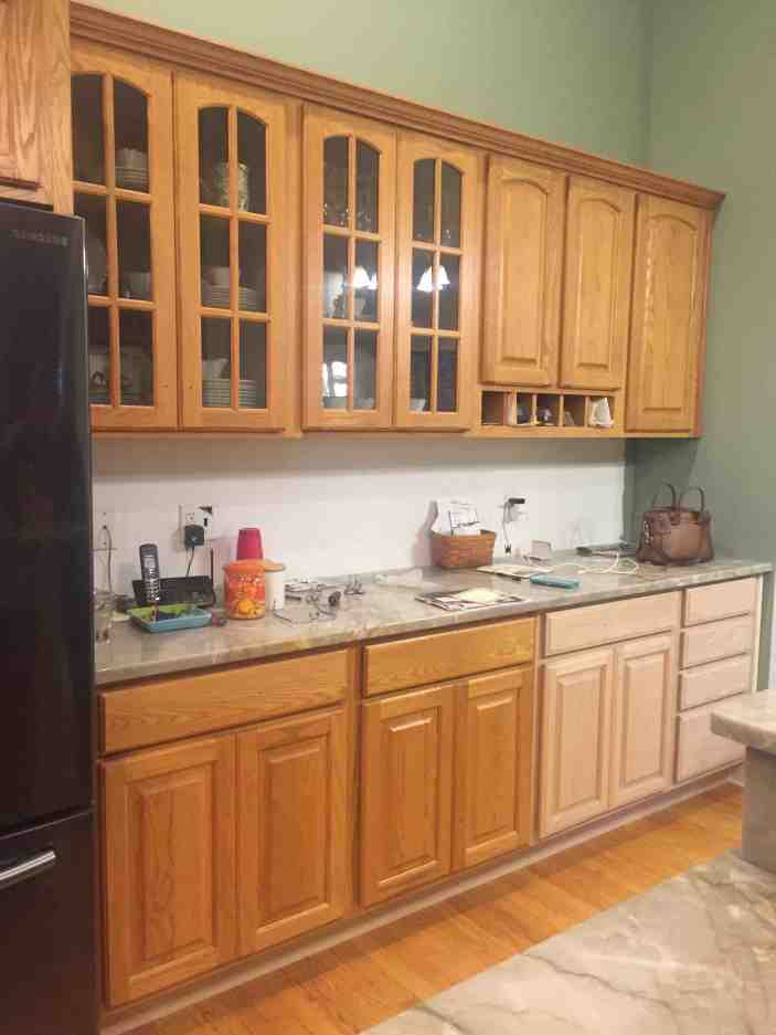 Oak Kitchen Makeover Before and After