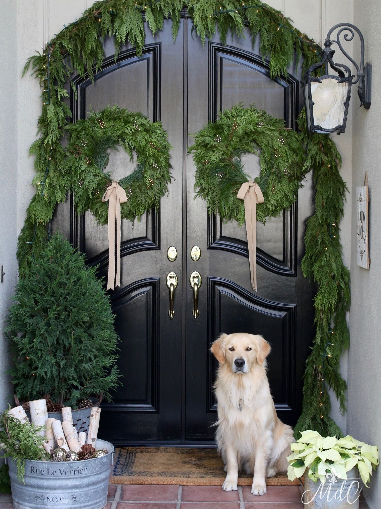 Holiday Home Tours A Lynch Creek Farm Wreath Giveaway