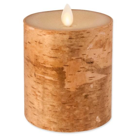 luminara birch candle
