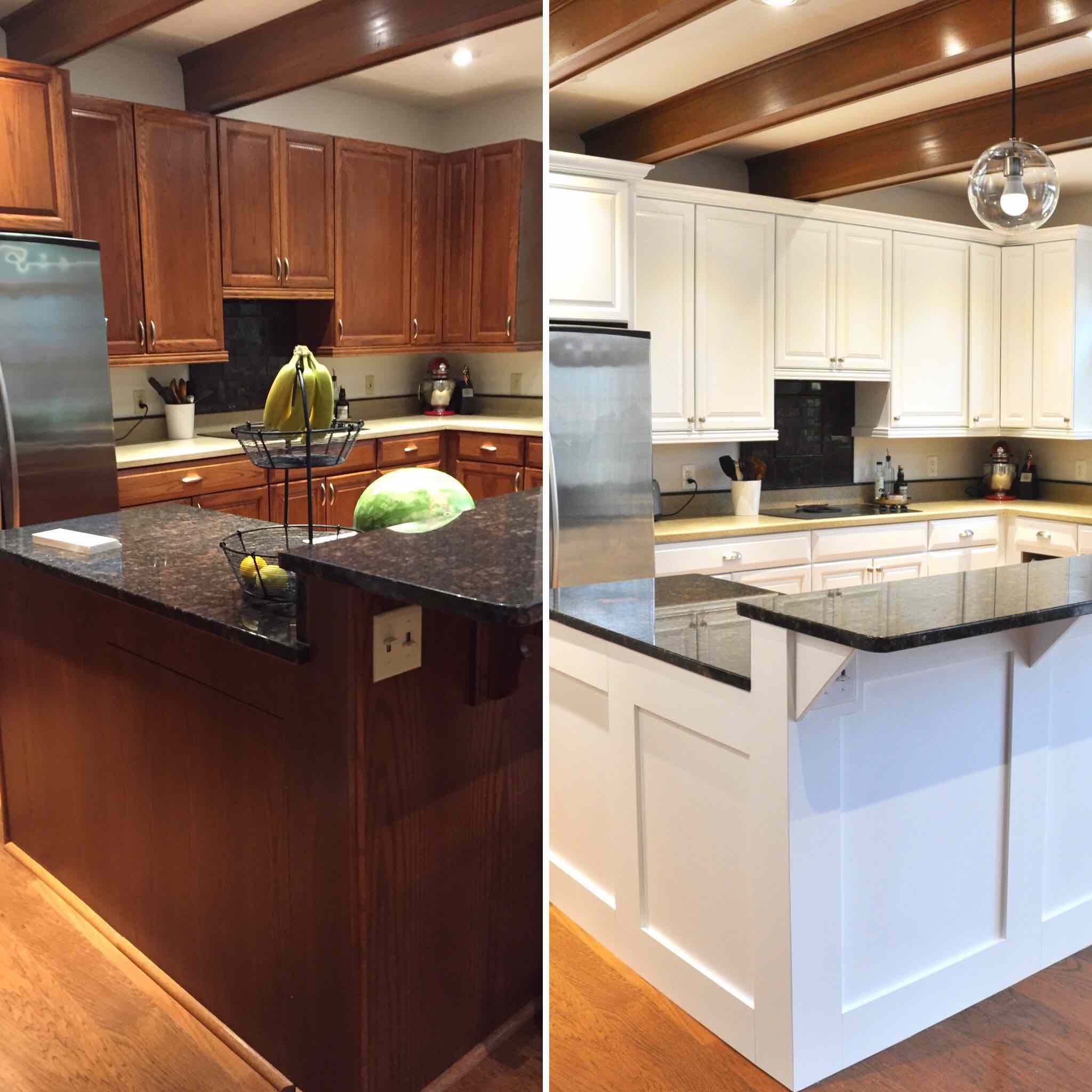 Attractive How To Paint Oak Cabinets White
