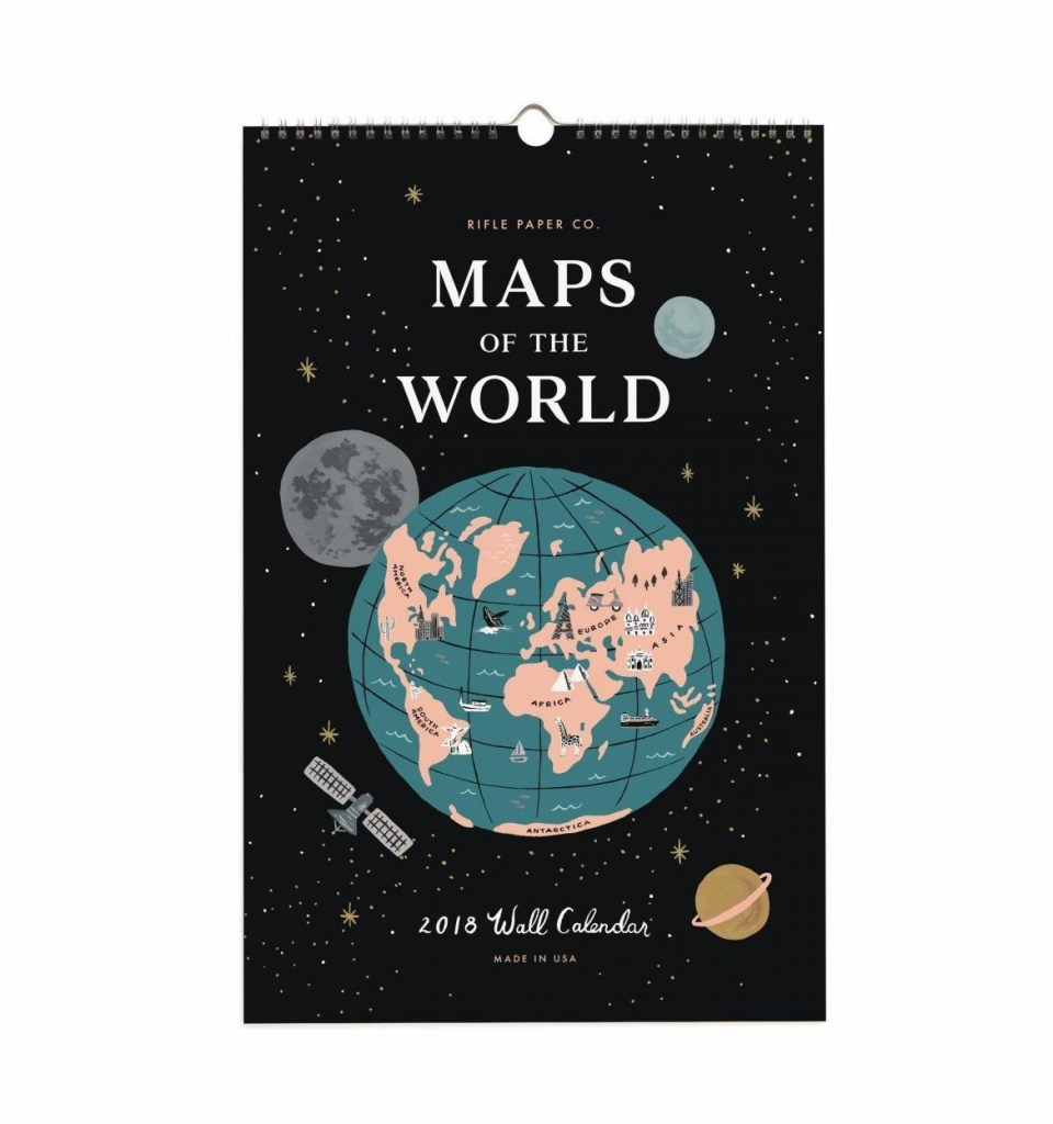 Rifle Paper Maps of the World 2018