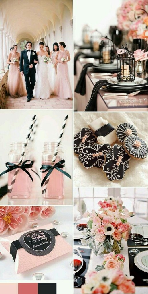 Navy and Blush Wedding