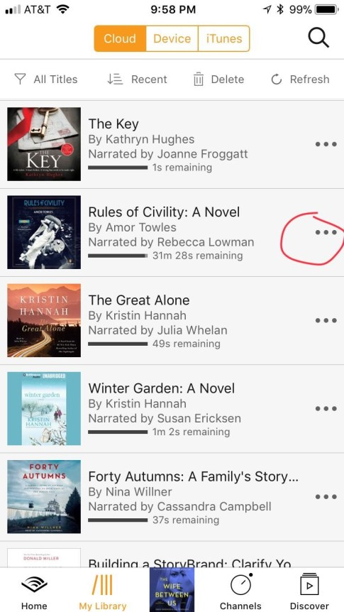 Sharing a book with friends through Audible