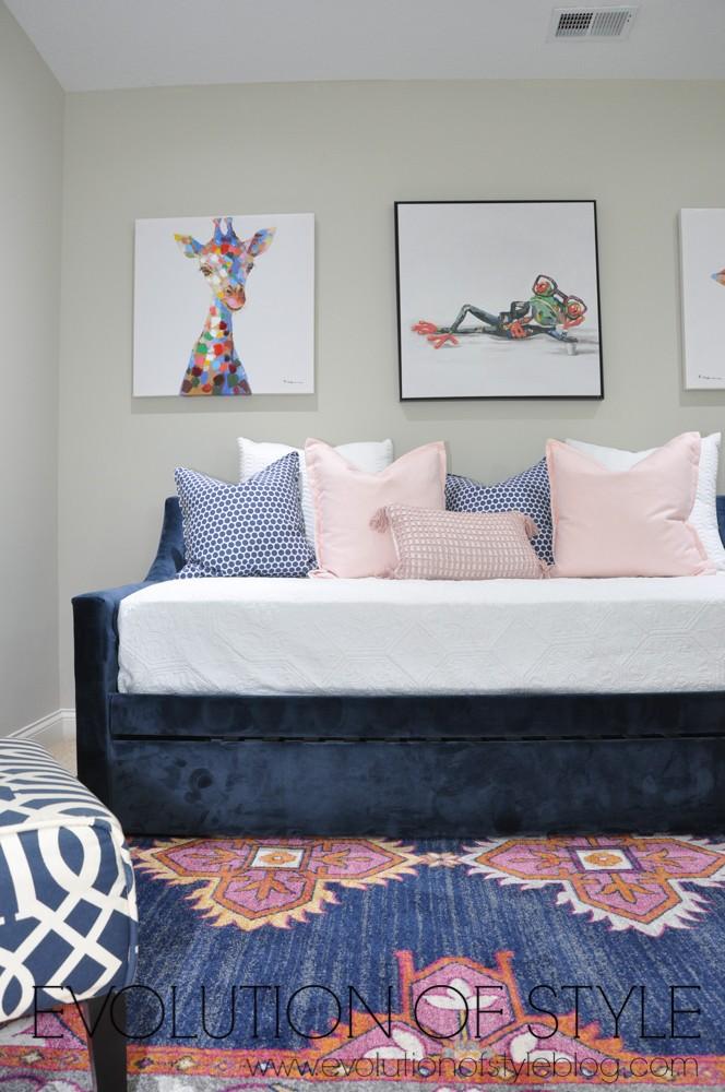 Spring One Room Challenge - Navy Zen Den