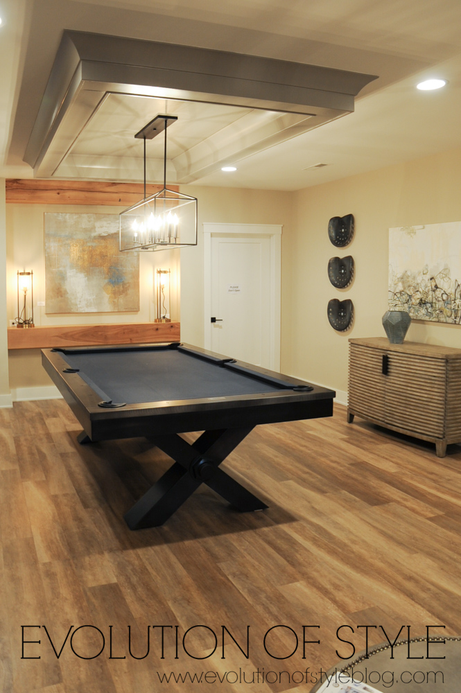 Finished basement with pool table