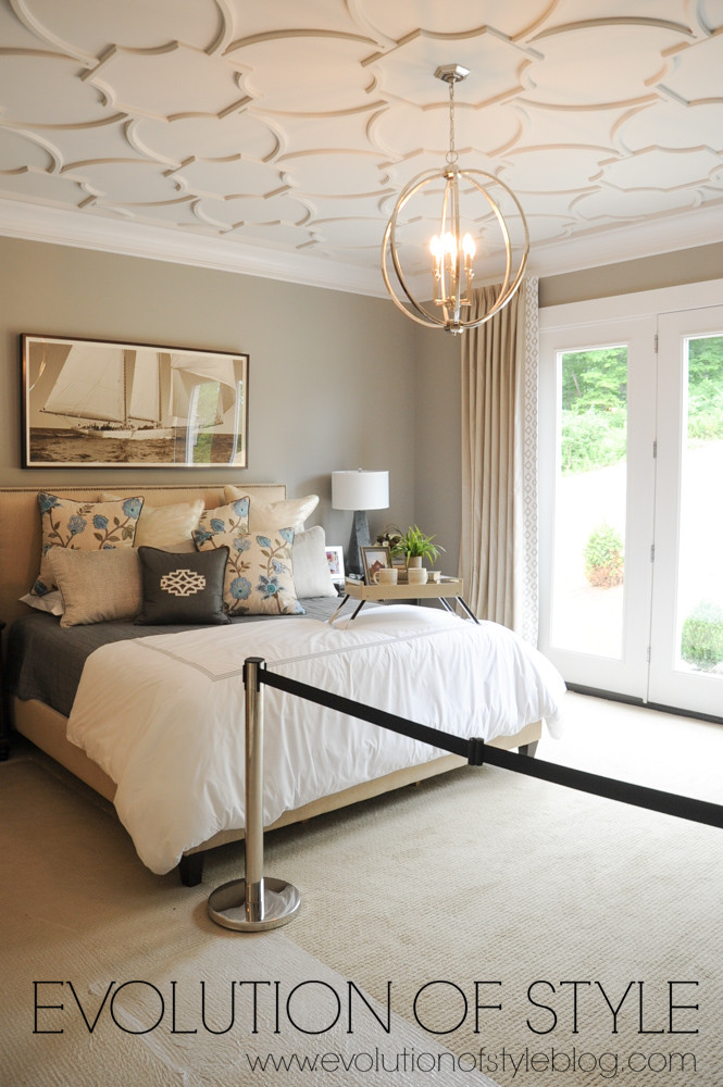 Master bedroom with ceiling detail