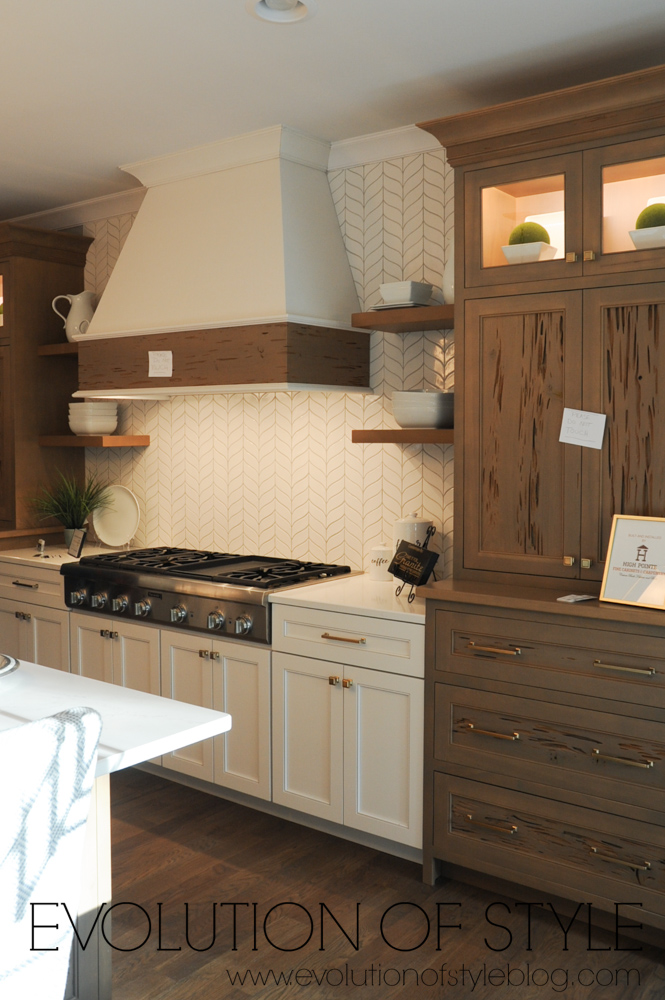 Kitchen with white and wood accents