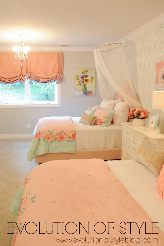 Basement girl's bedroom