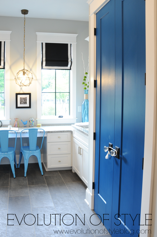 Blue interior doors