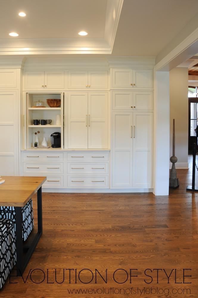 White kitchen with large storage