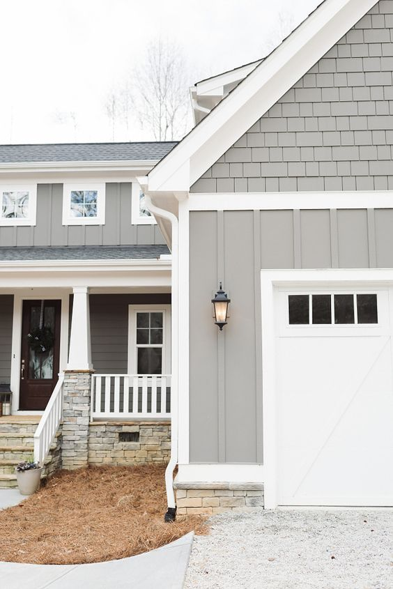 Gauntlet Gray Exterior Home Paint Color
