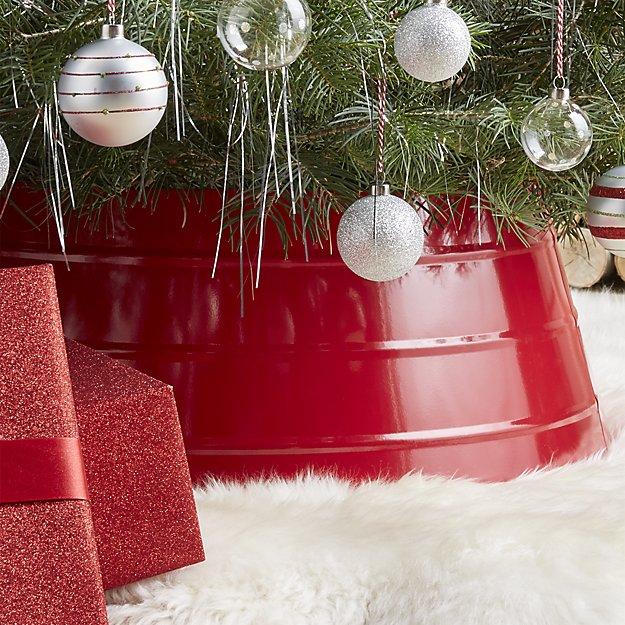High Gloss Red Christmas Tree Collar