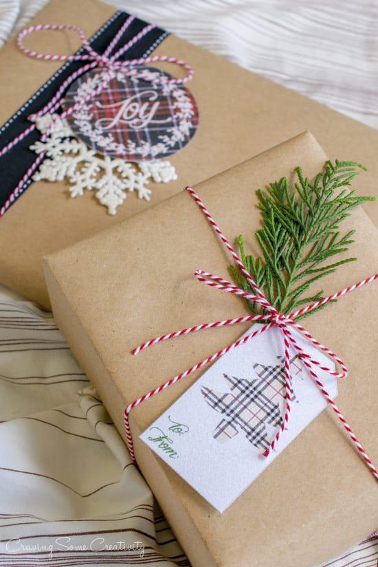 Free Plaid Printable Gift Tags