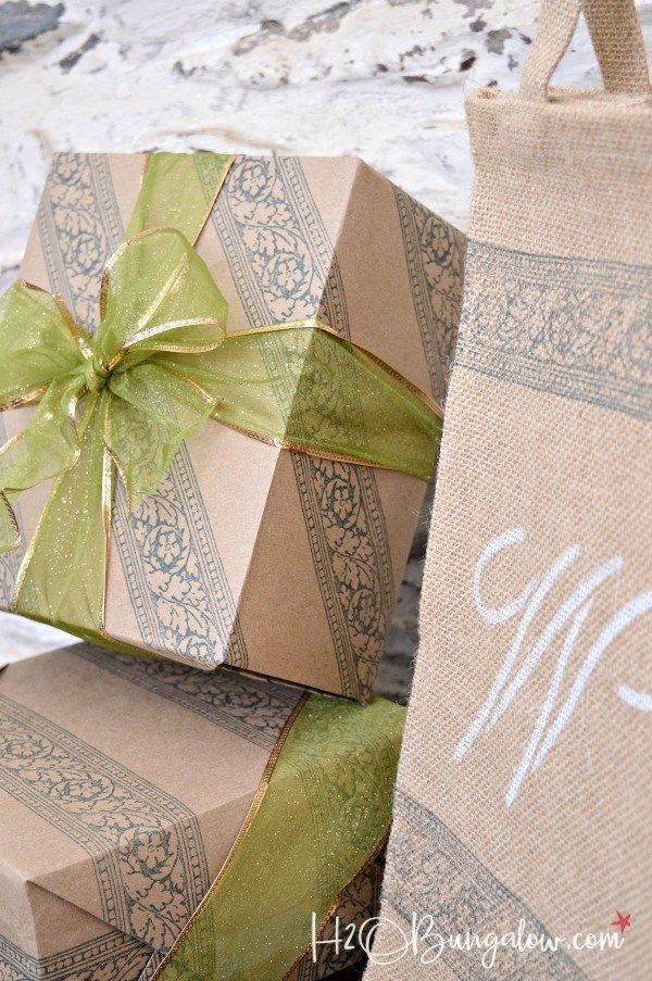 Embellishing plain gift wrapping to make it unique