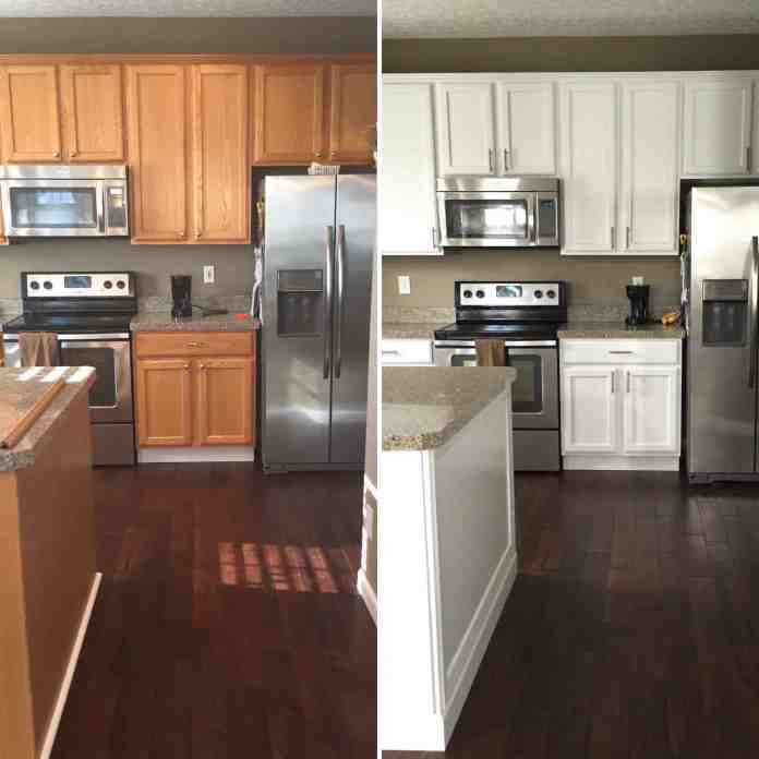 Oak Kitchen Before and After