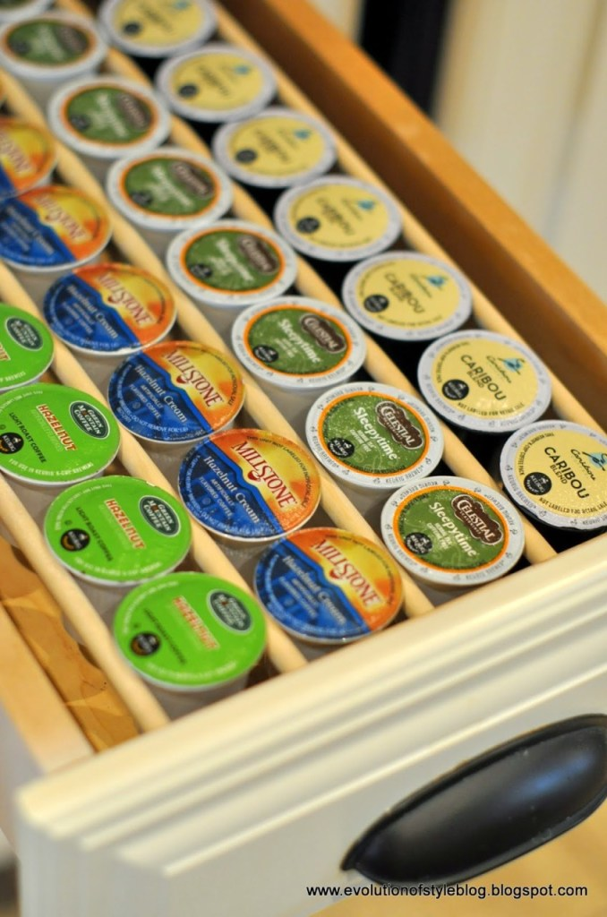 K-Cup Drawer Organization