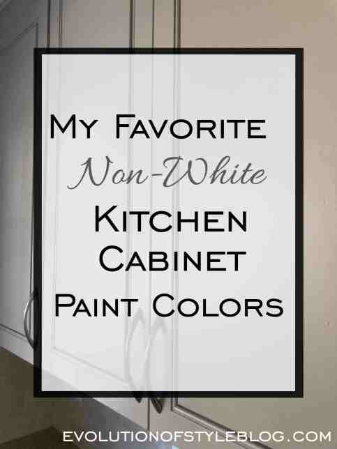My Favorite Non-White Kitchen Cabinet Paint Colors