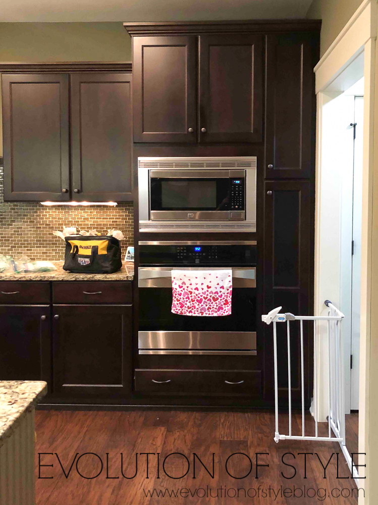 Dark Wood Painted Kitchen Cabinets Before and After