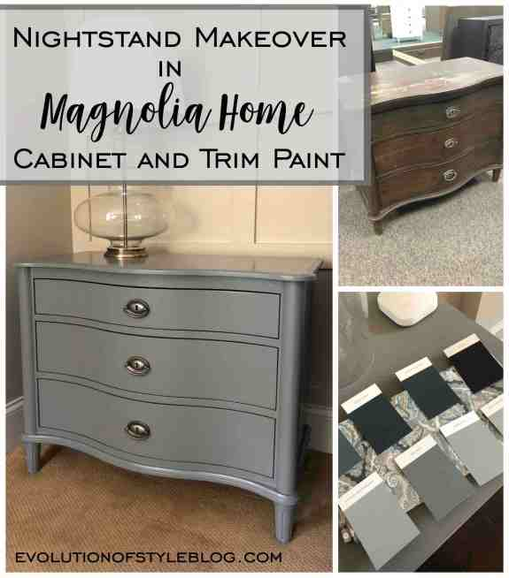Nightstand Makeover in Magnolia Home Cabinet and Trim Paint