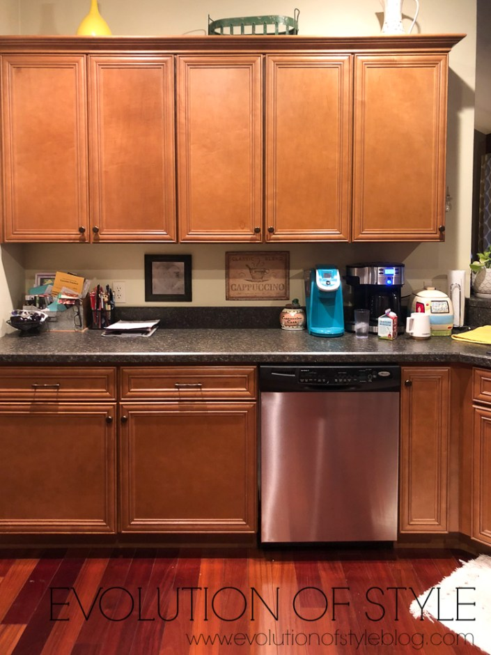 Before and After Painted Cabinets White