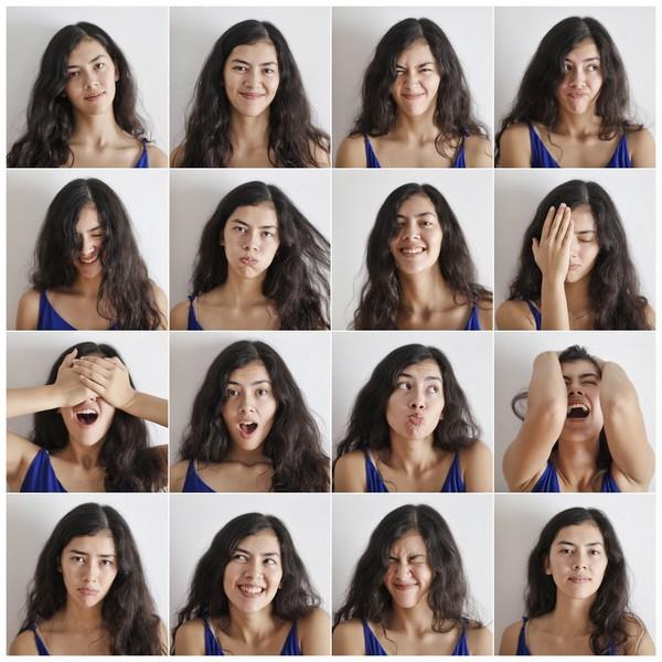 panel d'exemples d'émotions