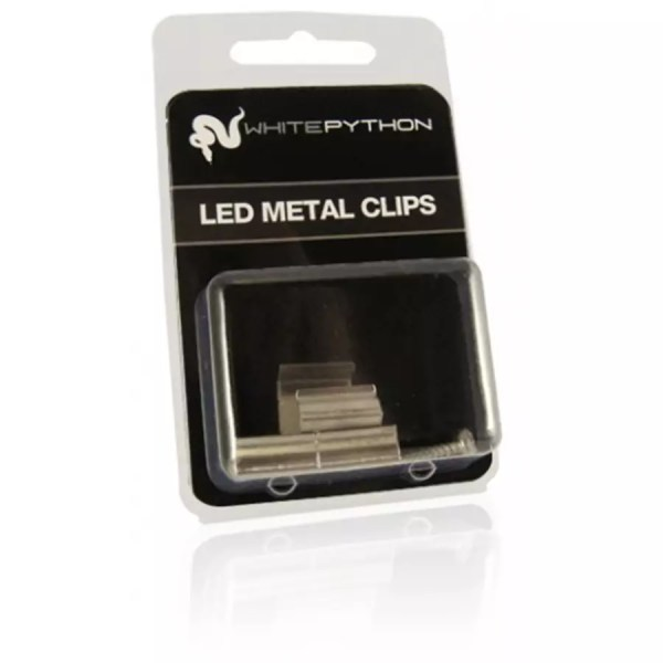 White Python Metal LED Clips