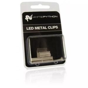 White Python Metal LED Clips