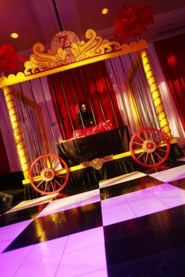 Vintage Circus Christmas Party Theme at Kent House Knightsbridge