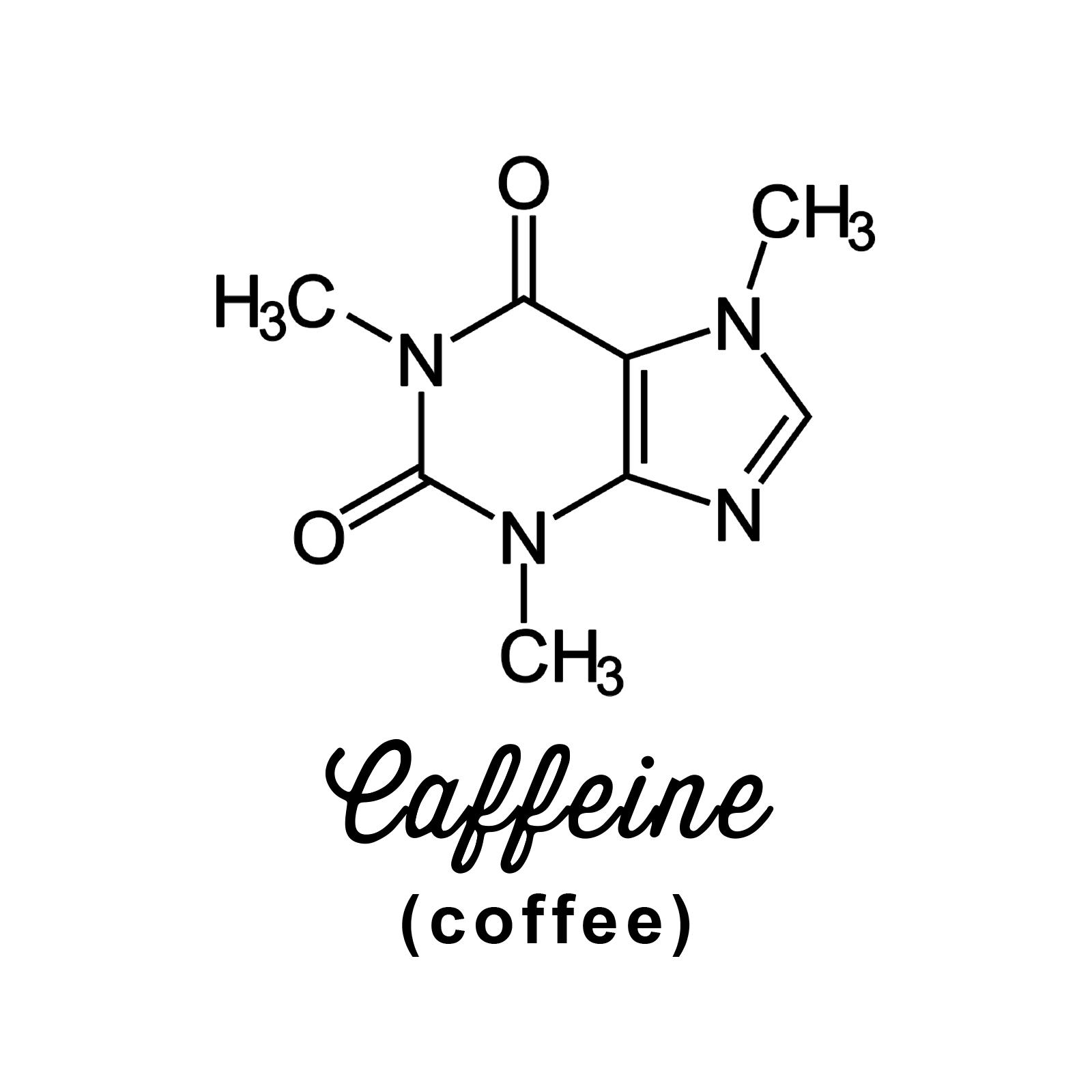 Caffeine Molecule Weatherproof Vinyl Decal