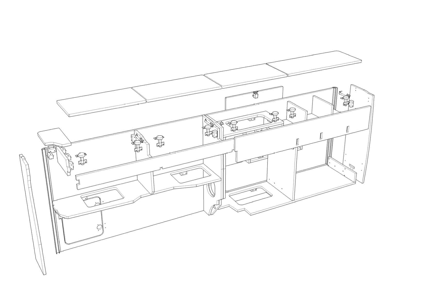 Furniture Kit 1300 (C) slim front low back