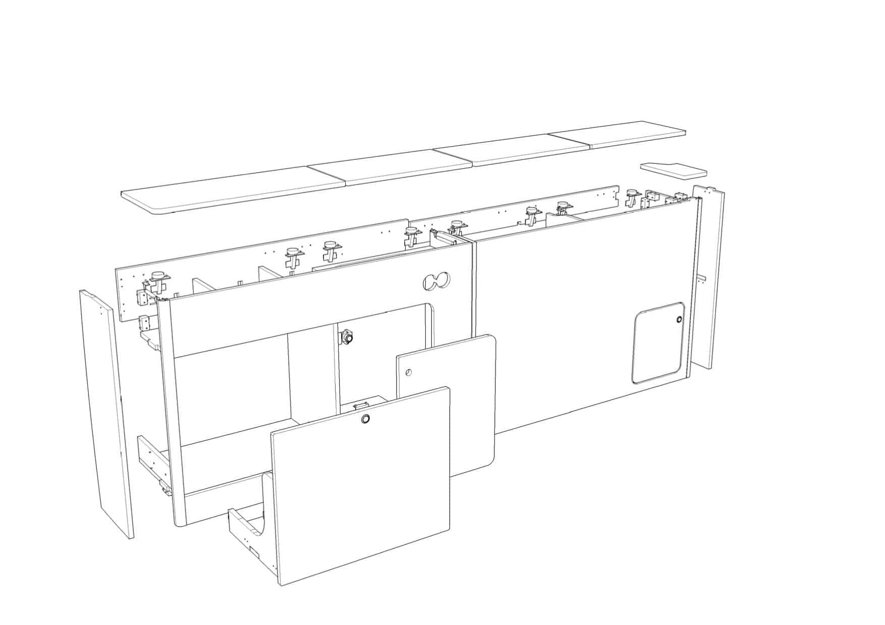 EVO 1300 (C) SWB VAN (Slim front, low back, RIB seat