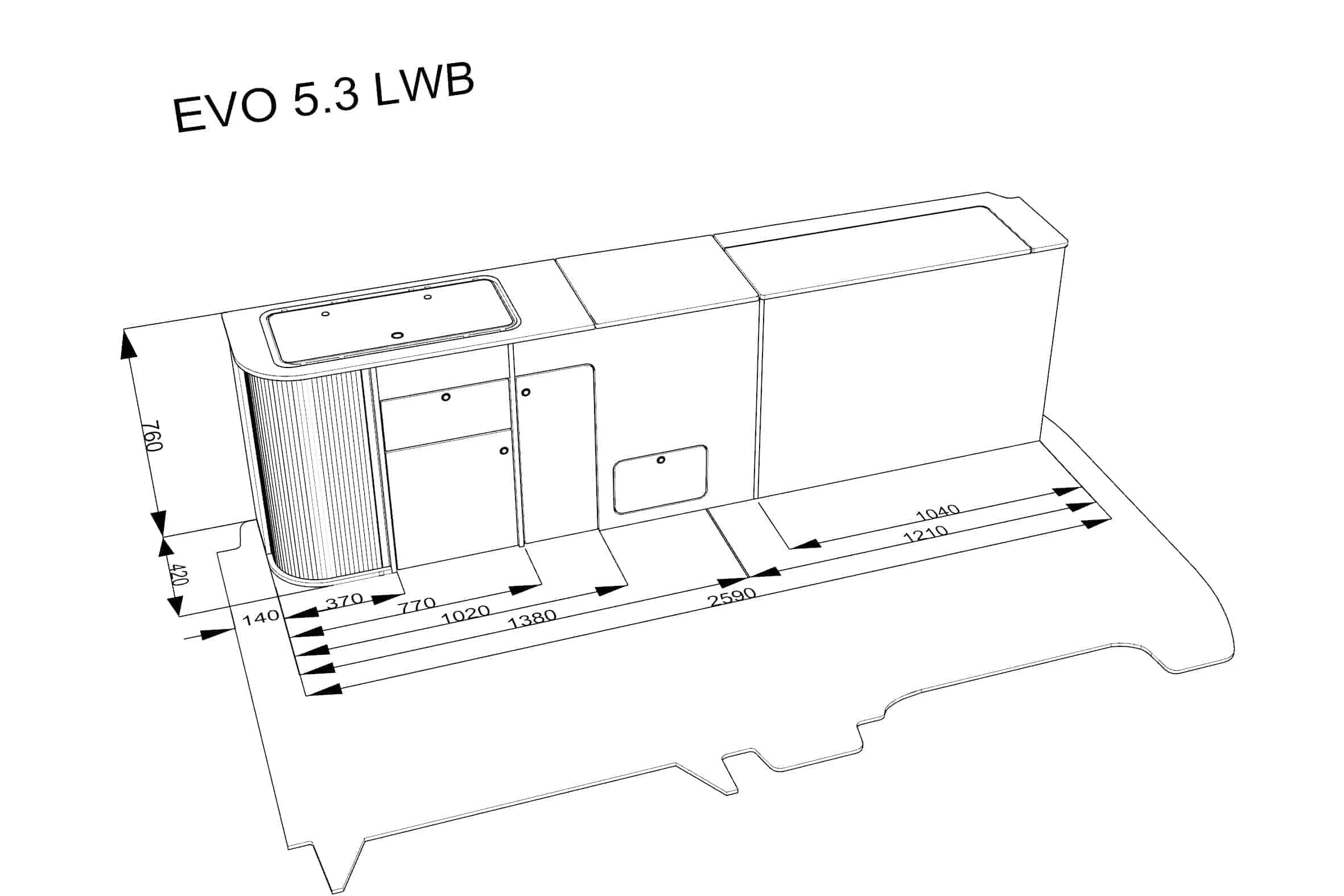 Evo 5 3 Vw Lwb Curved Kit T4 T5 T6