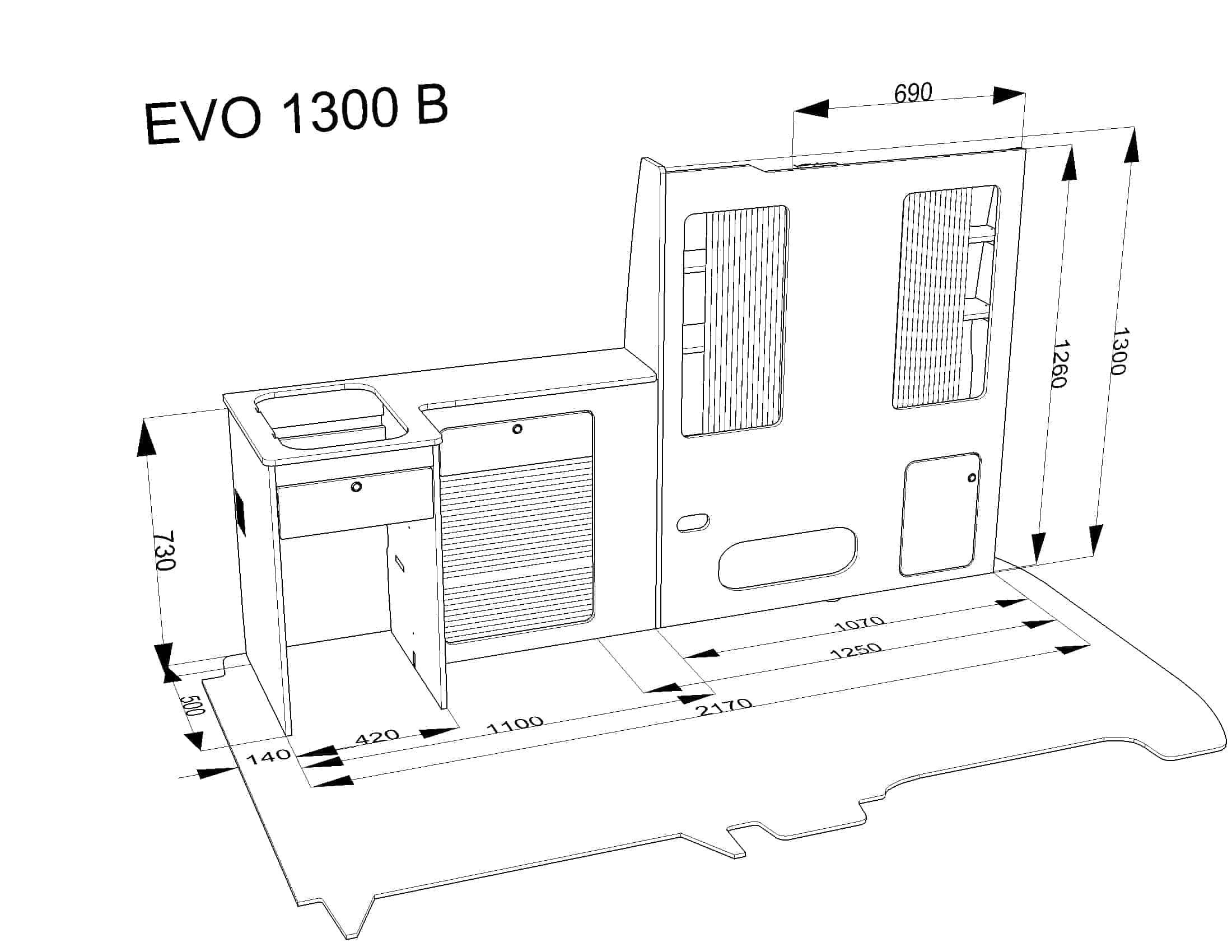 Furniture Kit B Rib Seat Vw T5 Short Wheel Base