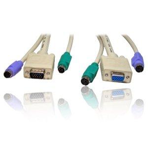 10m Extension KVM (Clavier Vidéo Souris) Interrupteur SVGA/VGA & PS/2Câble (tous les m)