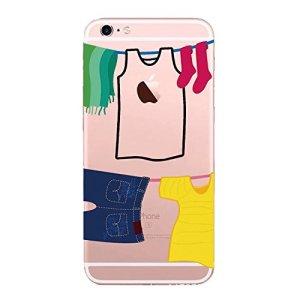 iPhone 7 Coque Silicone, CrazyLemon Coque Souple Transparente TPU Silicone en Gel Case Premium Ultra-Light Ultra-Mince Skin de Protection Pare-Chocs Anti-Choc Bumper pour iPhone 7 4.7 pouces – Air Clothes