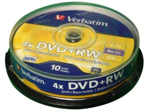 Verbatim DataLifePlus DVD+RW x 10 4,7 Go