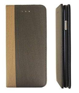 iPhone 7étui dessins en bois | Premium Étui de protection Case Porte-cartes | fin inoxydable Étui portefeuille noir | Design Adento Étui marques d'origine & Marron Cover | 4.7