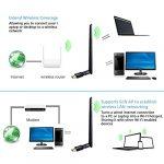 Adaptateurs USB Wifi, ANEWKODI Wifi Dongle 600Mbps Clé WiFi Adapter Wireless Dual Bande (2.4G+5G) Avec 5dBi Antenne for Windows 10/8.1/8/7/XP/Vista MAC OS 10.4-10.12