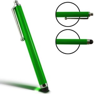 SODIAL(R) Stylet tactile capacitif r¨¦sistif Vert adapt¨¦ pour Apple iPad / iPad 2 3G Tablet PC 3