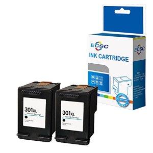ECSC Remis à neuf Encre Cartouche Remplacement Pour HP Deskjet 1000 1010 1050 1050A All-in-One 1510 1512 1514 2050 2050A 2050s 2510 2512 2540 2542 2544 2549 3000 3050 3050A 3055A 301XL (Noir, 2-Pack)