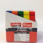 disquettes 8,9cm, Lot de 25, 1,44Mo, Formatée IBM par Agrafes