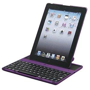 FXOESR DGZ pour Apple iPad 234 bluetooth clavier, il peut être détaché et angle réglable de 360 degrés clavier bluetooth , purple