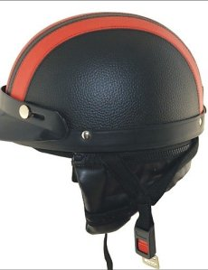 carking xt02 moto pu casque de cuir (m) , red #-2866