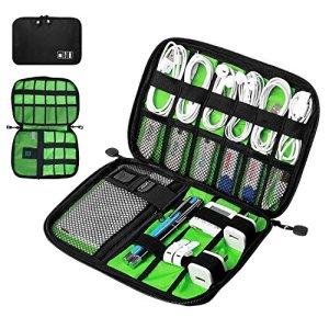 DAMIGRAM Sac Des Accessoires Électroniques Portable Pochette Rangement Multifonctionnel Sac Organisateur de Câbles Imperméable pour Câbles/Clé USB/Carte SD TF/Cartes Mémoires/Chargeur